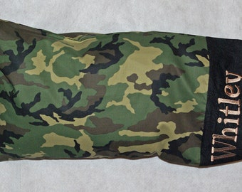 Camouflage Camo Body Pillow Size Pillowcase, Custom Gift, Personalized With First Name,  No Shipping Fee,  Ships TODAY, AGFT 1234