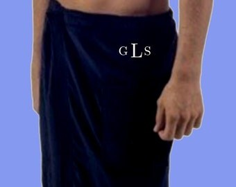 Luxury Spa Wrap for men or women, A SEXY Gift, Velour, pockets, bridal shower/wedding gift ideas, monogrammed beach/home wear