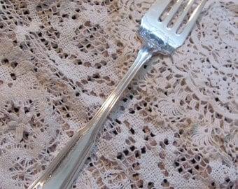 Vintage Silver Plate Large Serving Fork - Laurel 1910 Pattern