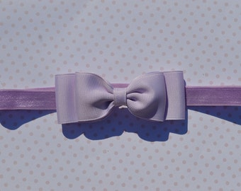 Lavender Purple Bow Headband. Lavender Baby Bow Headband. Purple Baby Headband. Baby Hair Accessories. Girls Hair Accessories. Baby Girls