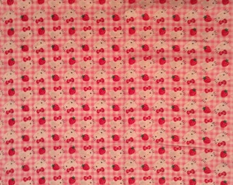 A Wonderful Hello Kitty Cotton Fabric By The Yard Free US shipping