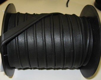 "1/2"" Cowhide Leather Cord Piping in Black 1500 (3 yds) 3277XD9 - *****BEST SELLER*****"