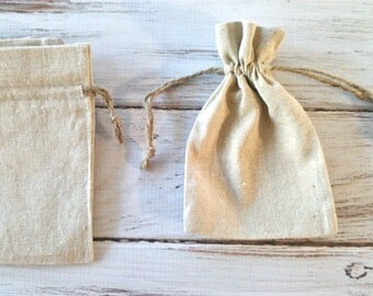 Wedding favor bags rustic natural linen jute drawstring bridal party gifts birthday party favors