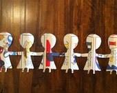 Paper Doll Chain - Alphabet Soup