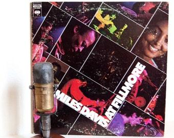 "ON SALE Miles Davis Vinyl Record Album 1970's Jazz Fusion Improvisational Jazz 2LP, ""Miles Davis At Fillmore:Live""(1970 Cbs)"