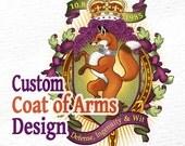 Custom Coat of Arms / Heraldry / Crest