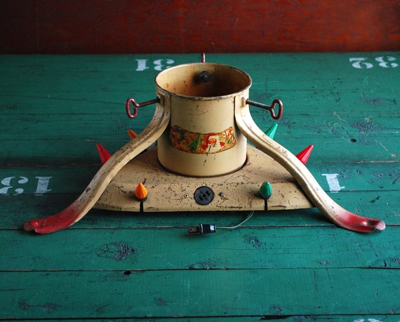 Antique Christmas Tree Stand Decorations : Antique noma christmas tree stand with lights catalog