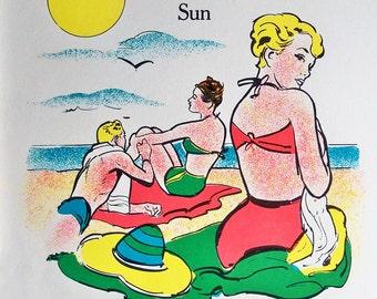 1963 Elementary School Science Chart - 18 x 24 Poster - Illustrating Heat