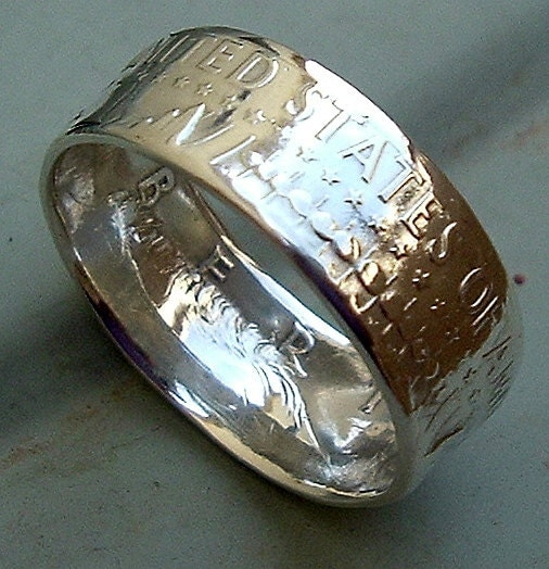 1964 Kennedy Half Dollar Coin Ring In A Size 10 90 Silver
