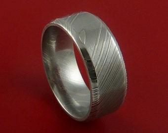 Damascus Steel Ring Wedding Band Genuine Craftsmanship Any Size 3-22