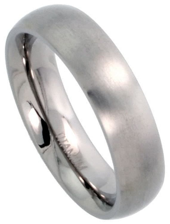 titanium wedding band comfort fit ring 5mm width by usajewelry