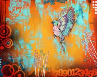 Bird in flight- 11x14 Giclee print