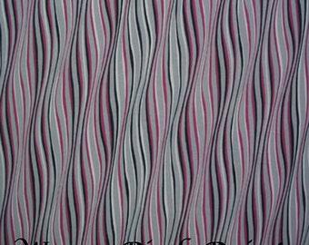 Cotton stretchy magenta black fabric