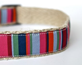 Southwest Dog Collar, Western Dog Collar, Adjustable Dog Collar, Stripe Dog Collar, Sale Dog Collar