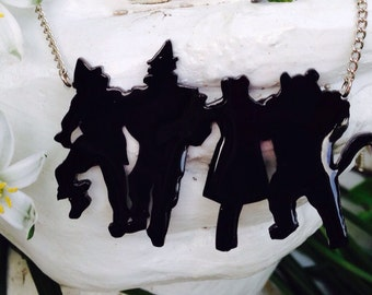 Wizard of Oz silhouette necklace ***2 SIZES**