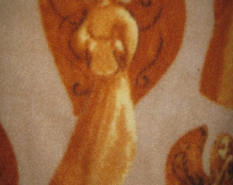 Angels in Gold with Gold - 2 Layer Fleece Blanket - Ready to Ship Now