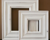 Sizes 8x10 to 12x12 Picture Frame / Black or White on Knotty Alder Wood / Madera Style