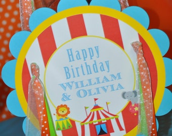 Circus Birthday Party Door Sign - Carnival Birthday - Circus Party Decorations - Kids Circus Party