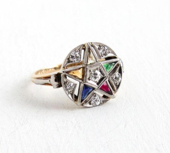 K Psco Masonic Ring