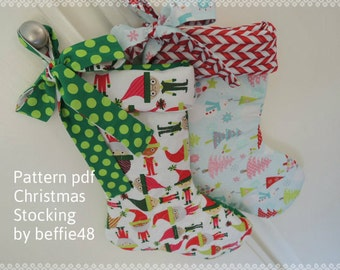 Christmas Stocking Super Simple Pattern, Tutorial, pdf