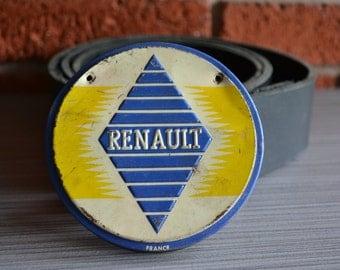 Renault Vintage Car Emblem Belt Buckle