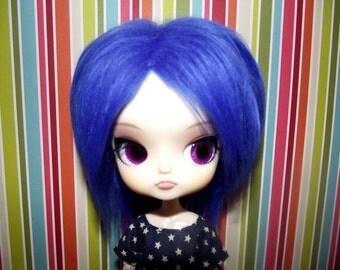 Dark blue faux fur wig hair for DAL