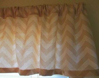 Sale Window Curtain Valance Premier Prints Khaki Zigzag