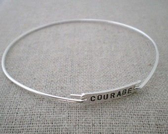 inspirational word bangle
