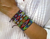 Huichol Native American Inspired Multi-Colored, Beaded Friendship Bracelet 106