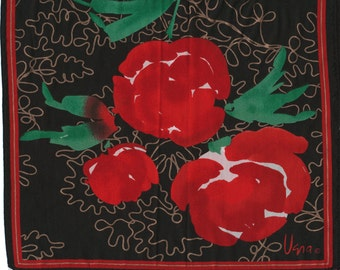 Sale Red Roses Vera silk scarf valentine