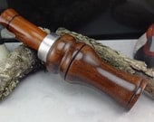 Duck Call In Walnut  and Rosewood from South America  With Double Reed  #217
