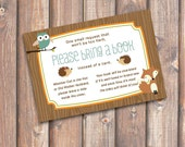 Woodland Animals Printable Stock the Library Enclosures Bring a Book Cards - INSTANT DOWNLOAD