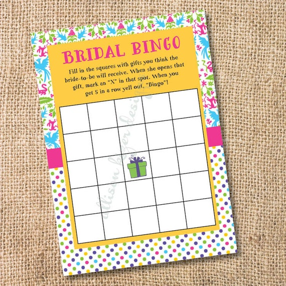 printable baby or bridal bingo game couples shower game mexican