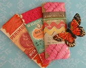 3 Packets of Vintage Pink and Orange Rick Rack Trim, Wright's and Penimaid