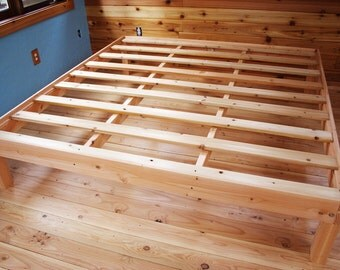 Custom double/full size solid fir platform bed frame