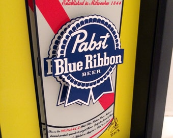 Pabst Blue Ribbon Beer 3D Pop Art Gift for Men Beer Art