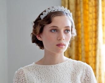 des années 1930 de mariage bandeau - Antique style diadème - cristal argent casque-1940s mariage casque - Agnes Hart au Royaume-Uni