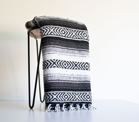 Black And White Mexican Blanket
