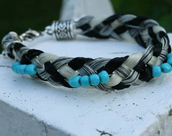 Horse Hair Bracelet with Beads