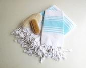 Handwoven Towel set,Cotton Bath & Head Towels-Eco Friendly Towel set,High Quality Hand Woven Turkish Cotton Bath,Beach,Spa,Yoga,Pool Towel