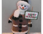 Mr Snowtastic 14 inch high snowman  Pattern only IMMEDIATE DOWNLOAD