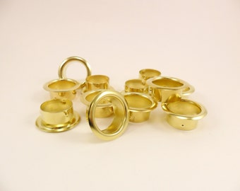 12 Brass Rings Candlestick Candle Cup Ring Inserts Candle Stick Ring