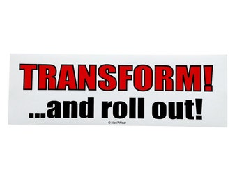 Transformers Anime Bumper Sticker (Transform and Roll Out)
