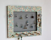 Jewelry Holder Organizer with Designer Paper for Earrings, Bracelets, Necklaces  Display.