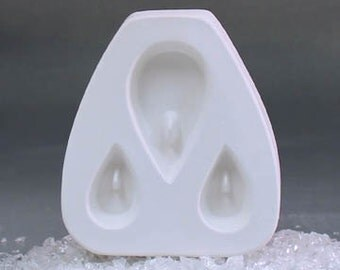 Holey Tear Trio Jewelry Casting Mold for Glass Fusing