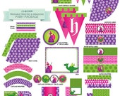 INSTANT DOWNLOAD Printable Princess & Dragons / Princess Medieval Birthday Party Accessory PDF Package from Little Celebrations