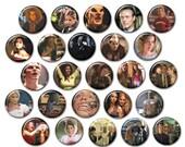 Buffyverse Fandom Button Set // Buffy the Vampire Slayer // Pinback buttons