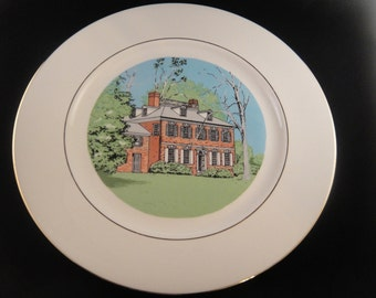Corbit Sharp House Women's Club of Odessa Delaware Collector Plate 1974