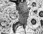 Crow Effigy Original Drawing
