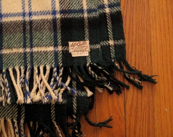 vintage McCalls scottish tartan throw blanket